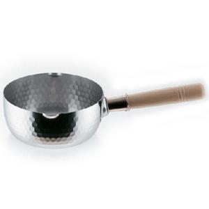 お手入れしやすく、利き手を選ばない両口設計の雪平鍋です 200Vにも対応。 簡単な計量もできる目盛付...