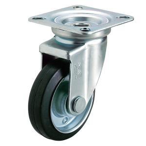 ユーエイキャスター:Jシリーズ 自在キャスター ゴム車 車輪径φ100 WJ-100|cocoterrace
