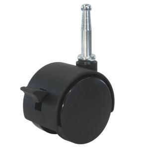 ユーエイ:Pシリーズ P-S型 差し込み式双輪キャスター ストッパー付 車輪径 φ40 主軸径 φ8 PT-40NS|cocoterrace