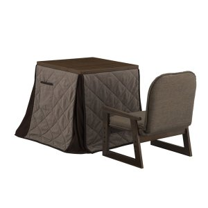 YUASA ユアサ :ミドルこたつ・布団・椅子3点セット ミドルブラウン 新なごみ55MB NGM-N55DLH MB の商品画像|ナビ