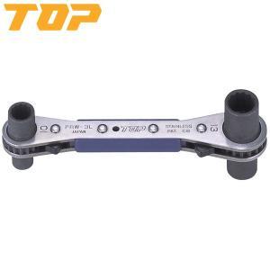 TOP(トップ):ラクラッチ(ロング4サイズ板ラチェットレンチ) PRW-3L