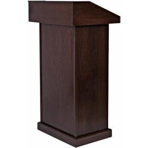 特長 □高品質の木材でつくられており、丈夫ですが軽いです。 □演壇の裏側には書類などの収納スペースが...