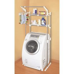 平安伸銅工業:ハンガー付ステンレス洗濯機棚 HC-11
