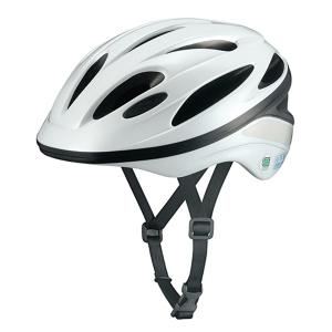 Kabuto(オージーケーカブト):通学用自転車ヘルメット L ホワイト 通学 安全 守る 頭 SN-12|イチネンネット PayPayモール店