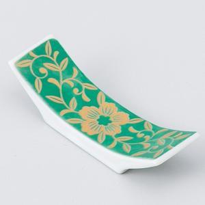 和食器 グリーン反型 箸置 箸置き 卓上小物 レスト お箸置き 陶器 食器 うつわ おうち ごはん ...