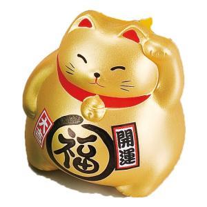 風水BKまる福招き猫・金 ネコ ねこ 縁起物 置物 ギフト 厄除け 開運 雑貨 金運 招き猫