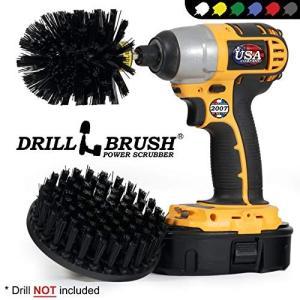 Drillbrush ヘビーデューティ用途向け超スティッフドリル搭載クリーニングブラシキット ウルトラスティッフ黒