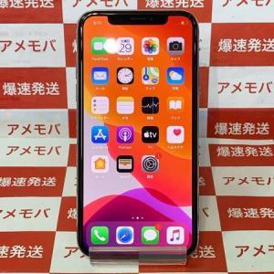 iPhone X 256GB AU版SIMフリー シルバー バッテリー83% 中古