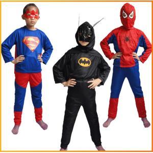 コスチューム衣装です! 大人気のスパイダーマン、ブラックスパイダーマン、バットマン、スーパーマンの海...