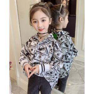 9af00331d87025 ブラウス シャツ 韓国系子供服 長袖 キッズ 女の子 2019 春 夏 おしゃれ かわいい オーバー サイズ ドロップショルダー 涼しい