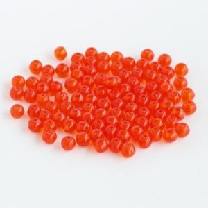 チェコビーズ:E ラウンド4mm オレンジ 100個 coeur 02