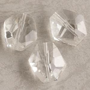 ガラス カット クリスタル 16×15mm 1個 coeur