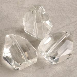 ガラス カット クリスタル 20×15mm 1個 coeur