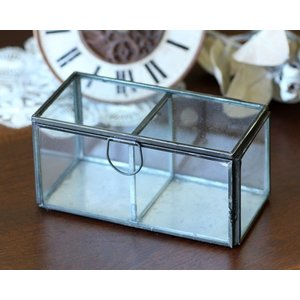 (クリックポスト・小型宅配便不可) ディスプレイ什器:メタルフレーム 2ルームガラスケース|coeur