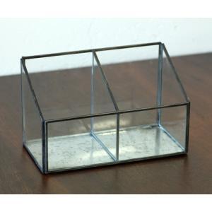 (クリックポスト・小型宅配便不可) ディスプレイ什器:メタルフレームセパレートガラスケース|coeur