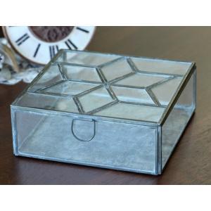 (クリックポスト・小型宅配便不可) ディスプレイ什器:メタルフレームガラスケース・スターパターン|coeur