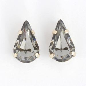 スワロフスキー #4300 縫い付けファンシーストーン 13×7.8mm ブラックダイヤ 2個|coeur