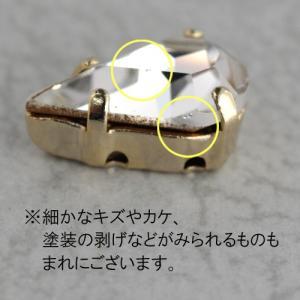 チェコ製 縫い付けファンシーストーン ペアシェイプ 13×7.8mm クリスタル 2個|coeur|03
