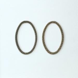 リングパーツ楕円形 小 真鍮古美 2個|coeur