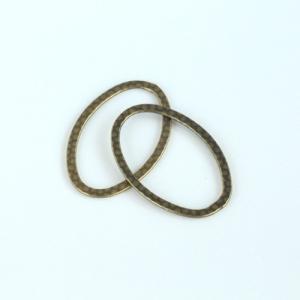 リングパーツ楕円形 小 真鍮古美 2個|coeur|02