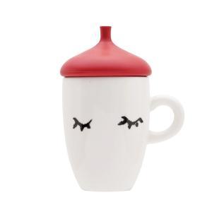 マグカップ おしゃれ 蓋付き レッド オールメンバーズ|coeurfacteur