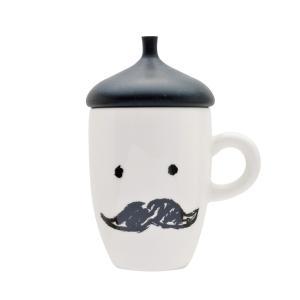 マグカップ 蓋付き ブラック 蓋付きマグカップ ヒゲ ひげ 男性 父親 人気 プチギフト|coeurfacteur