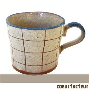 マグカップ スープカップ ペンシルカフェ チェック|coeurfacteur