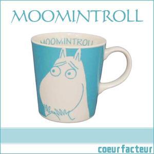 ムーミン マグカップ ブルー フェイスマグ ムーミングッズ|coeurfacteur