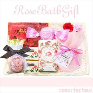 プレゼント 女性 癒しグッズ ローズバスギフト 入浴剤 ソープ セット 薔薇(バラ)|coeurfacteur