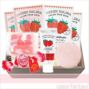 入浴剤 ギフト ストロベリー いちご グッズ かわいい ハンドクリーム 苺 ギフトボックスの画像