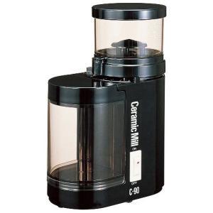 コーヒーミル 電動 送料無料 Kalita カリタ セラミックミルC-90 ブラック (電動コーヒーミル)|coffee-beans
