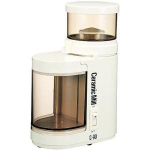 コーヒーミル 電動 送料無料 Kalita カリタ セラミックミルC-90 アイボリー (電動コーヒーミル)|coffee-beans