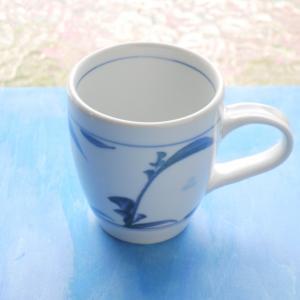 砥部焼 マグカップ つゆ草 (L) coffeemeetsbagels