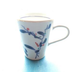 砥部焼 マグカップ 縦つる草 (L) coffeemeetsbagels