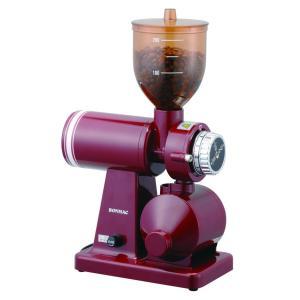 ボンマック BM-250N-RD 家庭用コーヒーミル・コーヒーグラインダー レッド BONMAC