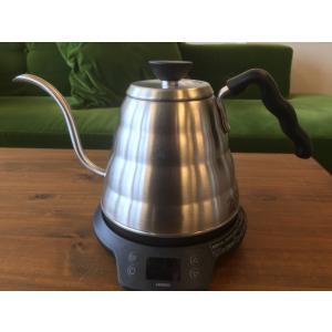 湯温を1℃単位で設定できるHARIOの電気加熱式コーヒーケトル「パワーケトルヴォーノ」です。  【商...