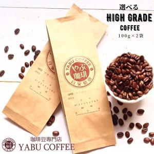 コーヒー豆 送料無料 ハイグレード から 選ぶ お試し セット 100g × 2袋 オリジナル コーヒー | 珈琲 自家焙煎  生豆 粉 プレミアム 香り 挽き立て 本格|coffeeyabu