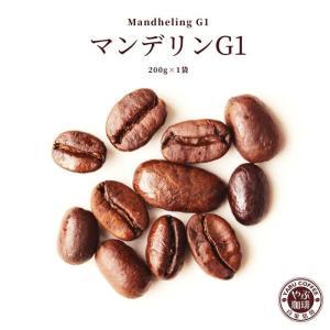 マンデリンG1 コーヒー豆 200g × 1袋 | インドネシア スマトラ式 コーヒー 珈琲 自家焙煎 こだわり 生豆 粉 マイルド プレミアム 香り 焙煎 挽き立て 本格|coffeeyabu