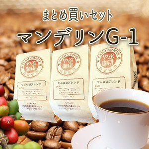 マンデリンG−1セット(200g×3袋)|coffeeyabu
