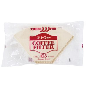 スリーフォーコーヒーフィルター103(5〜7人用)40枚入り|coffeeyabu
