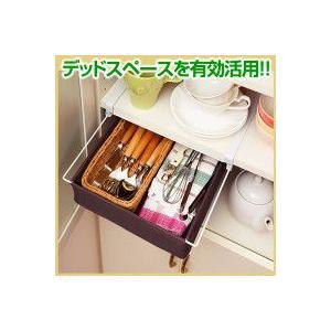 収納 小物 棚のすき間に スライド収納  コジットの写真