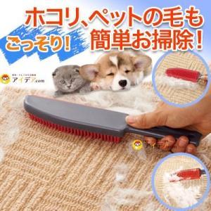 カーペットブラシ 掃除用ブラシ 絨毯 犬の毛 ペット 毛取り ごっそり!毛取りハンドブラシ「メール便」コジット|cogit
