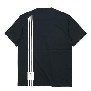 Y-3(ワイスリー) スリーストライプショートスリーブT メンズ 半袖 Tシャツ 3ストライプ アディダス ヨウジヤマモト H16334|coldbeck
