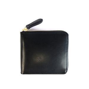 SLOW(スロウ) ハービー ラウンドショートウォレット メンズ 二つ折り財布 ジップ 牛革 ブラック レンガ SO660G|coldbeck