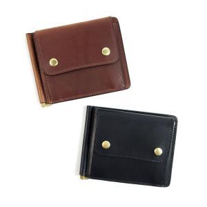 SLOW(スロウ) ハービー マネークリップ メンズ 二つ折り財布 牛革 ブラック レンガ SO754I|coldbeck
