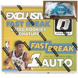 【Father's Pack 1パック付き】未開封ボックス 17/18 Panini Donruss Optic Fast Break Basketball Box|coletre
