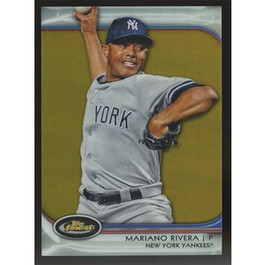 Mariano Rivera 2012 Topps Finest Gold Refractors 30/50 #42|coletre