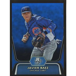 Javier Baez 2012 Bowman Platinum Prospects Blue Refractors 051/199 #BPP85 coletre