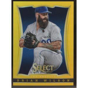 Brian Wilson 2013 Panini Select Gold Prizm 17/25 #50|coletre