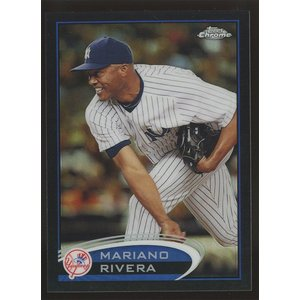 Mariano Rivera 2012 Topps Chrome Black Refractors 082/100 #150|coletre